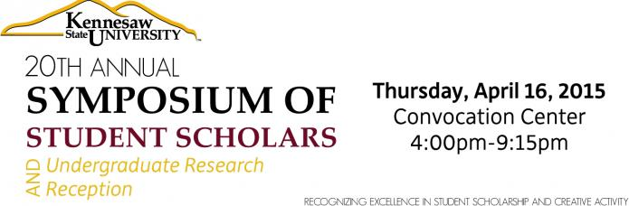 20th Annual Symposium of Student Scholars - 2015