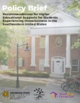 Recommendations for Higher Educational Supports for Students Experiencing Homelessness in the Southeastern United States