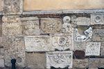 Detail View of the Etruscan and Roman Inscriptions and Reliefs