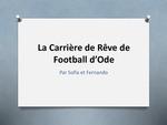 Level 2: La Carrièrede Rêve de Football d'Ode / Ode's Dream Football Career