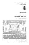 Senior Recital: Samantha Tang, viola