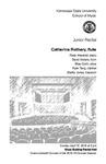 Junior Recital: Catherine Rothery, flute