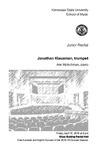 Junior Recital: Jonathan Klausman, trumpet