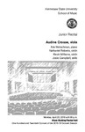 Junior Recital: Audine Crosse, viola
