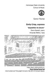 Senior Recital: Emily Crisp, soprano,