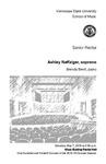 Senior Recital: Ashley Naffziger, soprano