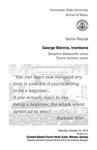 Senior Recital: George Blevins, trombone