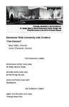 """KSU Jazz Combos, """"Fall Concert"""""""