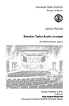 Senior Recital: Brandon Taylor Austin, trumpet