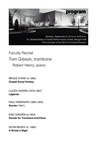 Faculty Recital: Tom Gibson, trombone and Robert Henry, piano