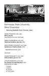 KSU Wind Ensemble featuring Elizabeth Koch-Tiscione, oboe