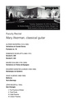 Faculty Recital: Mary Akerman, classical guitar