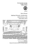 Senior Recital: Matthew Richards, double bass