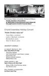 Choral Ensembles Holiday Concert,