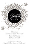 9th Annual Kennesaw State University School of Music Collage Concert