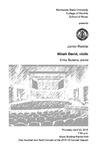 Junior Recital: Micah David, violin