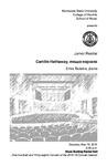 Junior Recital: Camille Hathaway, mezzo-soprano