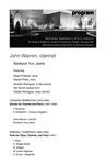 Faculty Recital: John Warren, clarinet