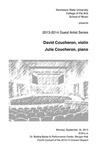 Guest Artist Series: David Coucheron, violin and Julie Coucheron, piano