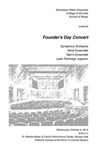 Founder's Day Concert with Symphony Orchestra, Wind Ensemble and Men's Ensemble
