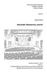 Guest Artist: Alexander Wasserman, pianist