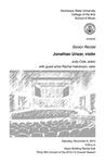 Senior Recital: Jonathan Urizar, violin
