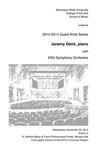 Guest Artist Series: Jeremy Denk, piano with KSU Symphony Orchestra