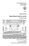 Senior Recital: Megan-George Langhorne, clarinet