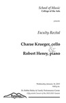 Faculty Recital: Charae Krueger, cello and Robert Henry, piano