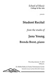 Student Recital from the Studio of Jana Young