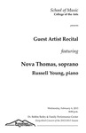 Guest Artist Recital: Nova Thomas, soprano and Russell Young, piano