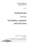Faculty Recital: Sam Skelton, saxophone