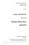 Guest Artist Recital featuring Sharpe-Zohn Duo, guitarists