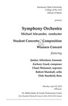 Symphony Orchestra, Student Concerto and Compostition Winners Concert
