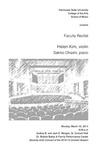 Faculty Recital: Helen Kim, violin with Sakiko Ohashi, piano