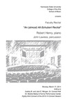 Faculty Recital: Robert Henry, piano,
