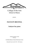 Faculty Recital: Soohyun Yun, piano