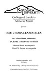 KSU Choral Ensembles