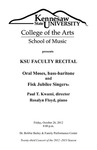 Faculty Recital: Oral Moses, bass-baritone and the Fisk Jubilee Singers