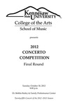 2012 Concerto Competition Final Round