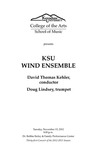 KSU Wind Ensemble featuring Doug Lindsey, trumpet