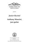 Junior Recital: Anthony Mancini, jazz guitar