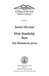 Junior Recital: Dirk Stanfield, flute