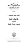 Senior Recital: Caleb Faille, tenor