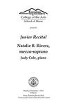 Junior Recital: Natalie B. Rivera, mezzo-soprano