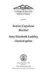 Senior Capstone Recital: Amy Elizabeth Lashley, classical guitar