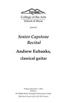 Senior Capstone Recital: Andrew Eubanks, classical guitar