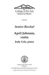 Senior Recital: April Johnson, violin