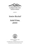 Senior Recital: Ariel Ginn, piano