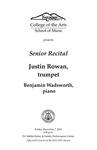 Senior Recital: Justin Rowan, trumpet